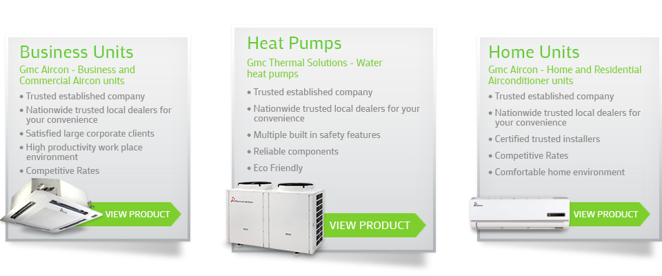 Gmc Thermal Heat Pumps - Business and Commercial airconditioning units